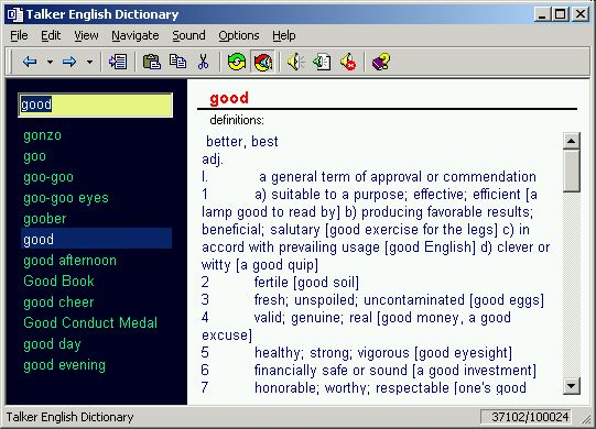 Gives you access to an invaluable reference book (dictionary) from Windows